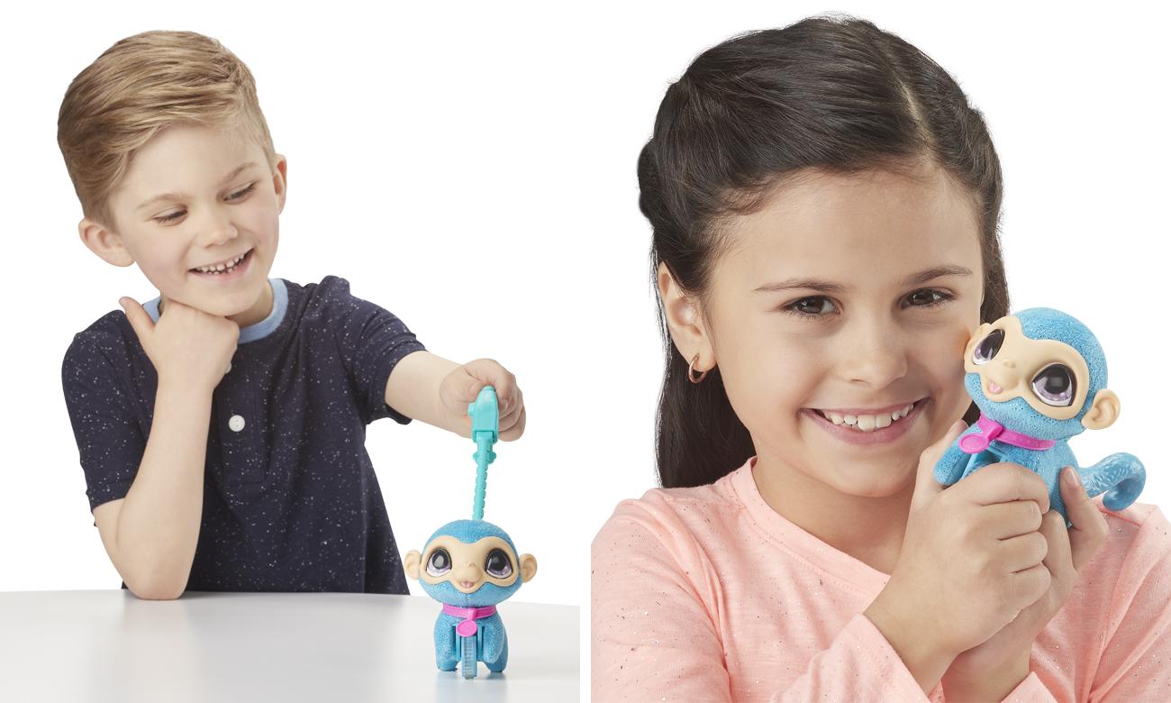 Hasbro FurReal Małe Zwierzaki na smyczy Małpa