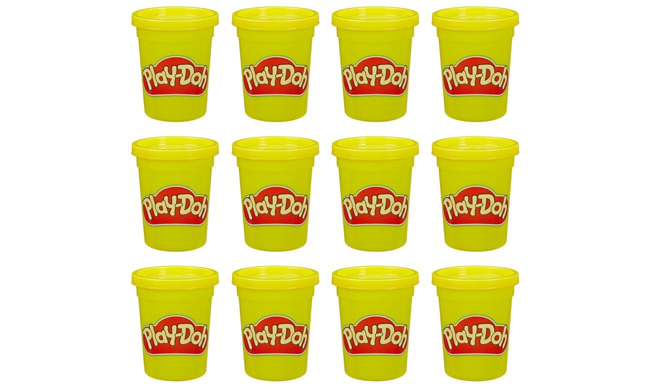 Hasbro Play Doh Ciastolina Tuby uzupełniające 12-pak żółty