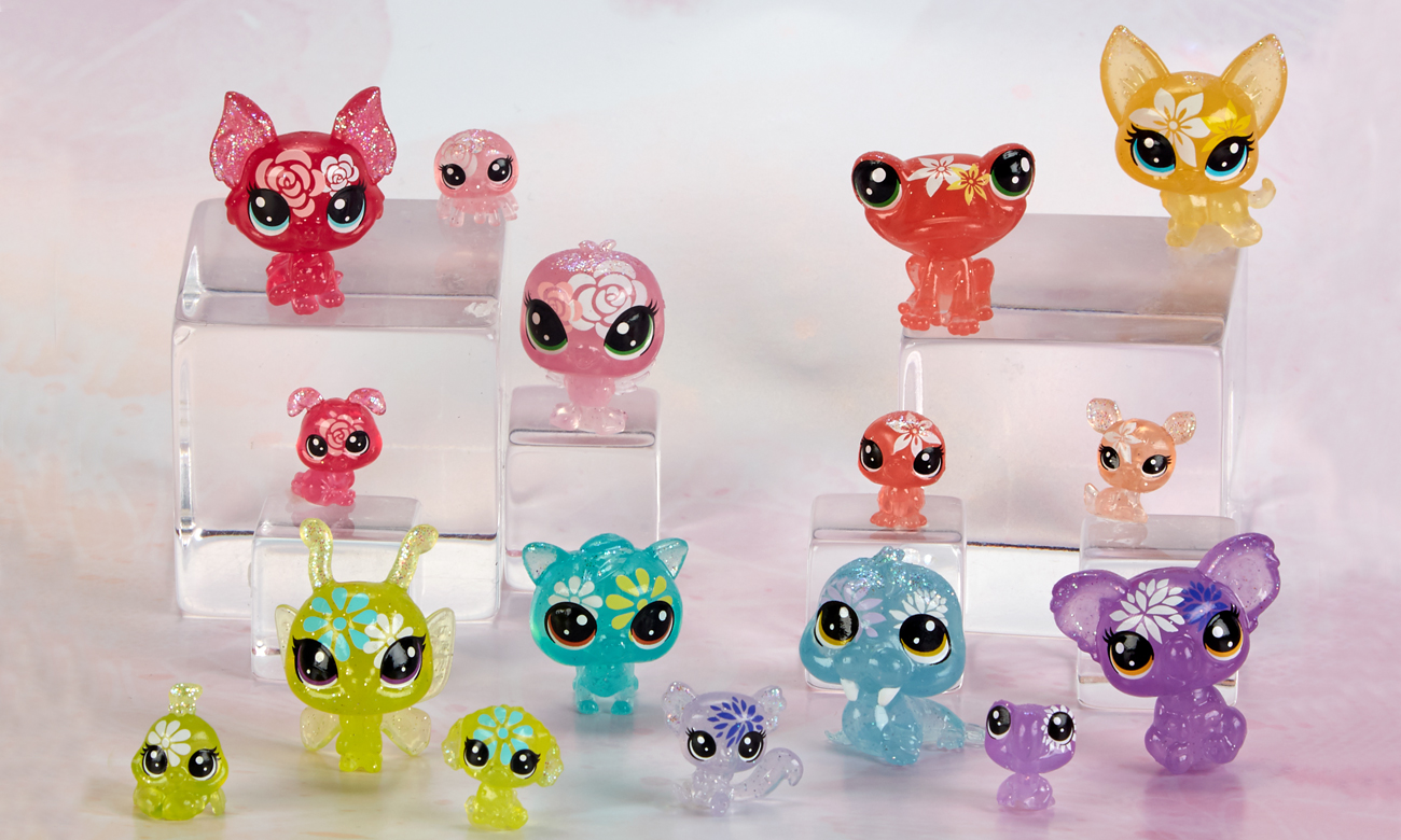 Hasbro Littlest Pet Shop Kwiatowy zestaw zwierzaków