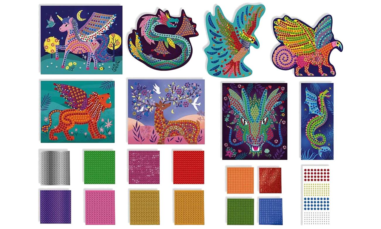 Zestaw kreatywny Mozaika Fantastyczne stworzenia 7+ Janod J07904