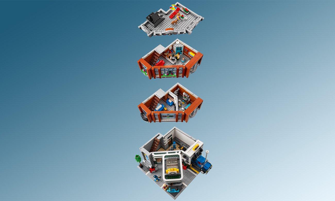 warsztat samochodowy z klocków lego