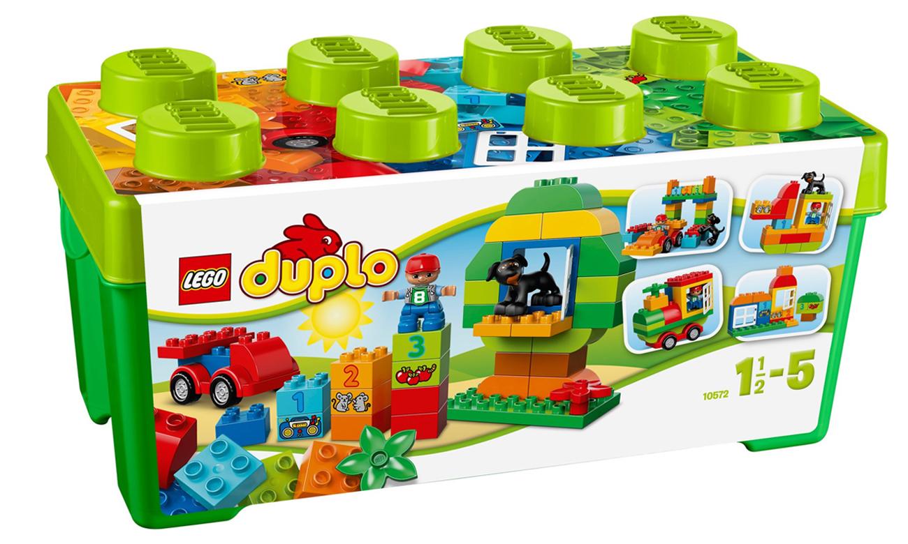 klocki LEGO w zielonym pudełku
