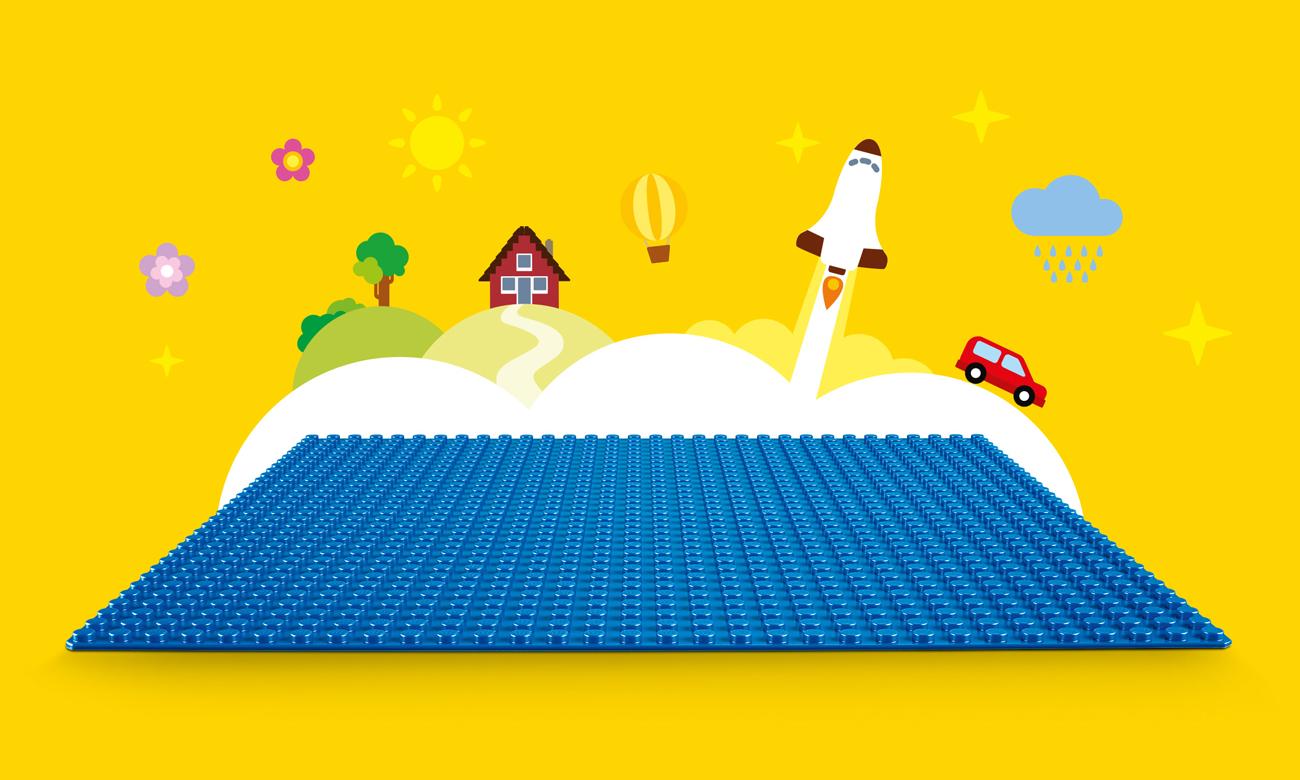 LEGO® Classic Niebieska płytka konstrukcyjna