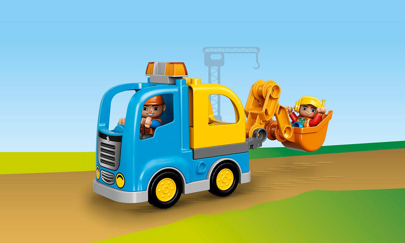 LEGO DUPLO 10812 Ciężarówka i koparka gąsienicowa