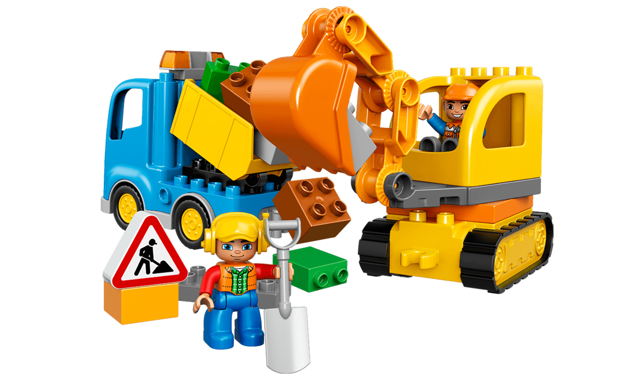 klocki LEGO® ciężarówka wywrotka koparka