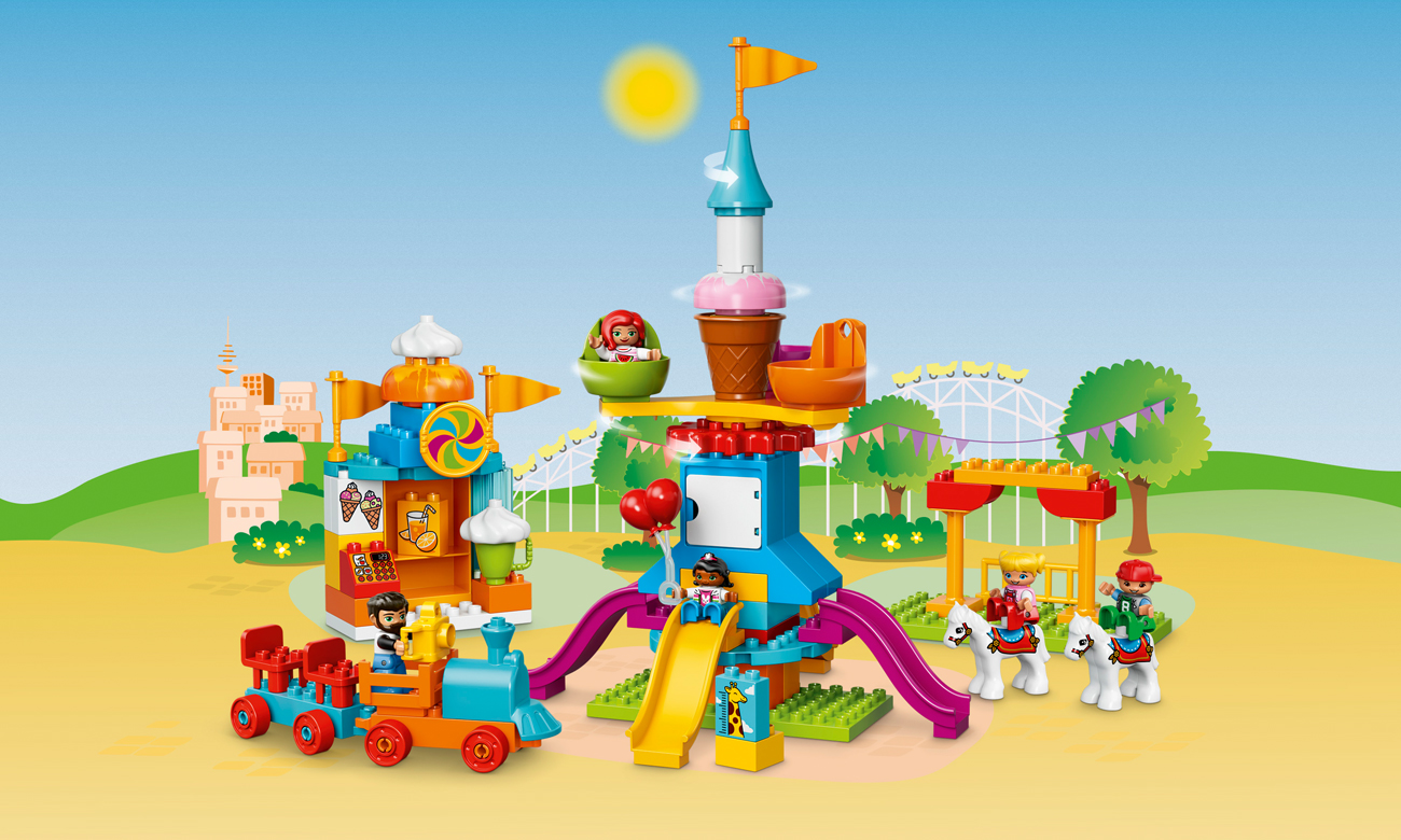 LEGO DUPLO Duże wesołe miasteczko