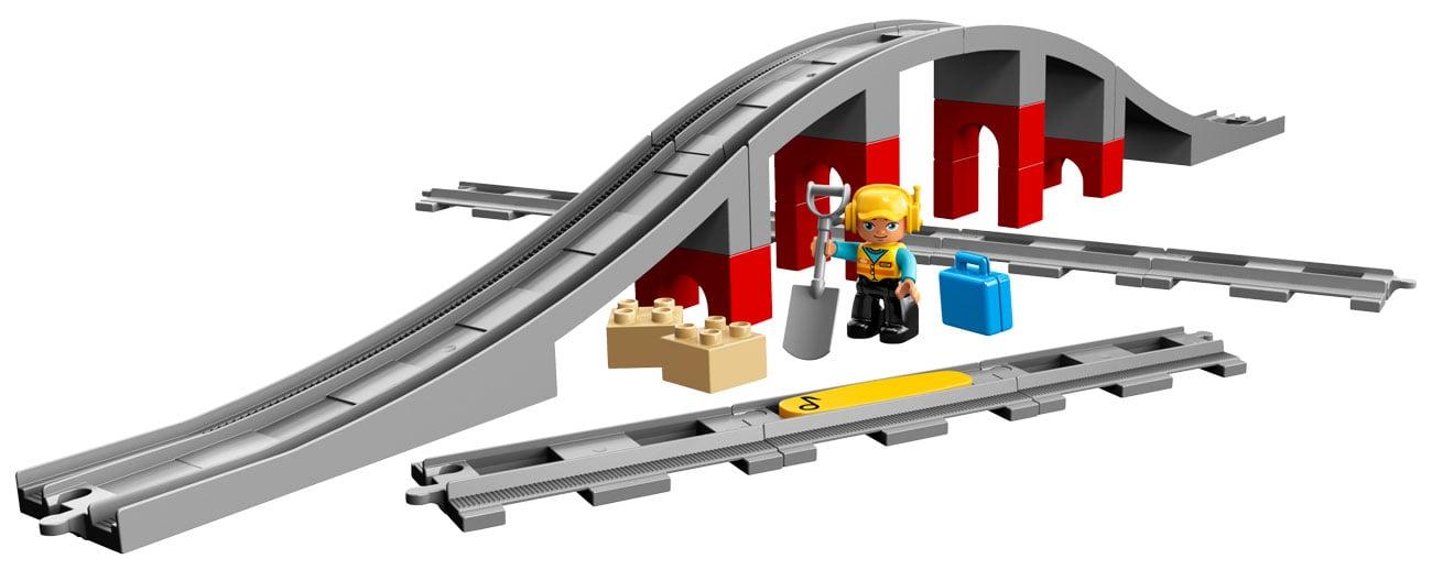 Lego duplo Tory kolejowe i wiadukt