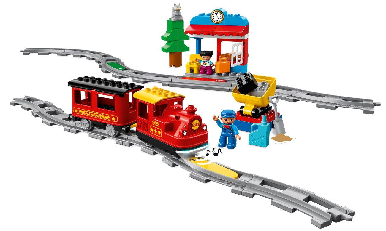 Lego duplo stacja i pociąg ze światłami