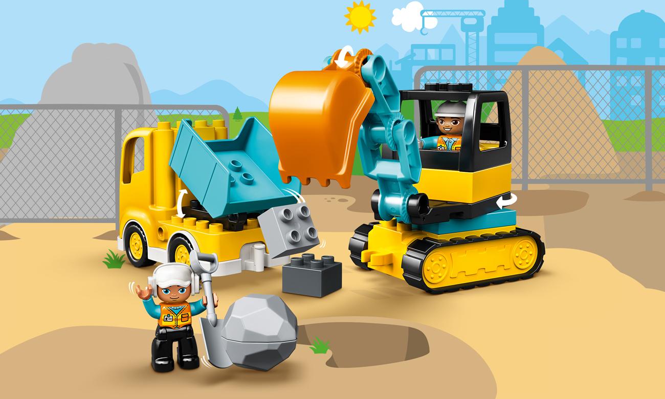 LEGO DUPLO Ciężarówka i koparka gąsienicowa