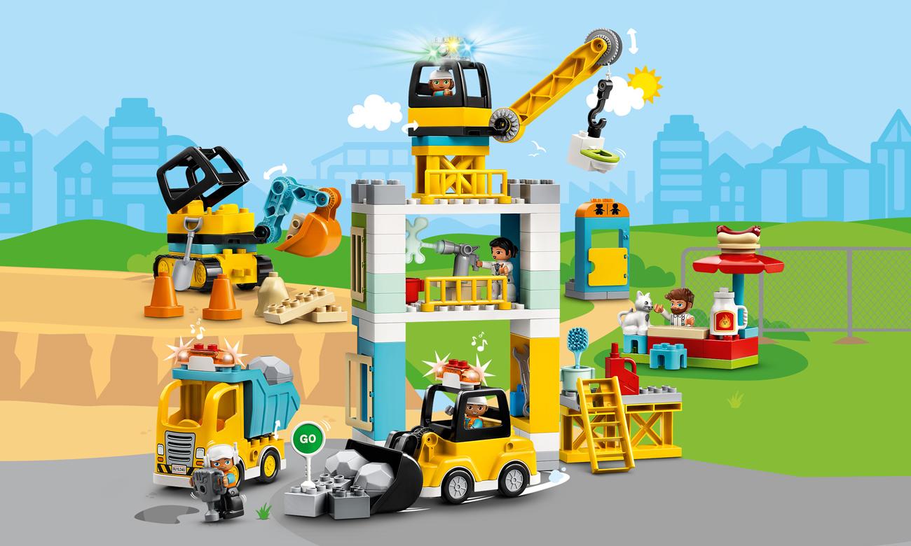 LEGO DUPLO Żuraw wieżowy i budowa