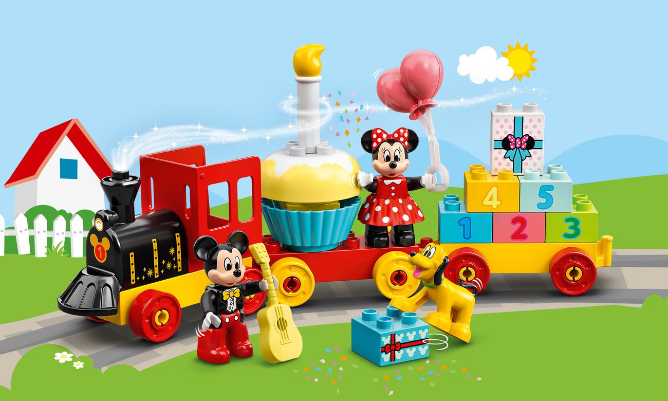 LEGO DUPLO Urodzinowy pociąg myszek Miki i Minnie