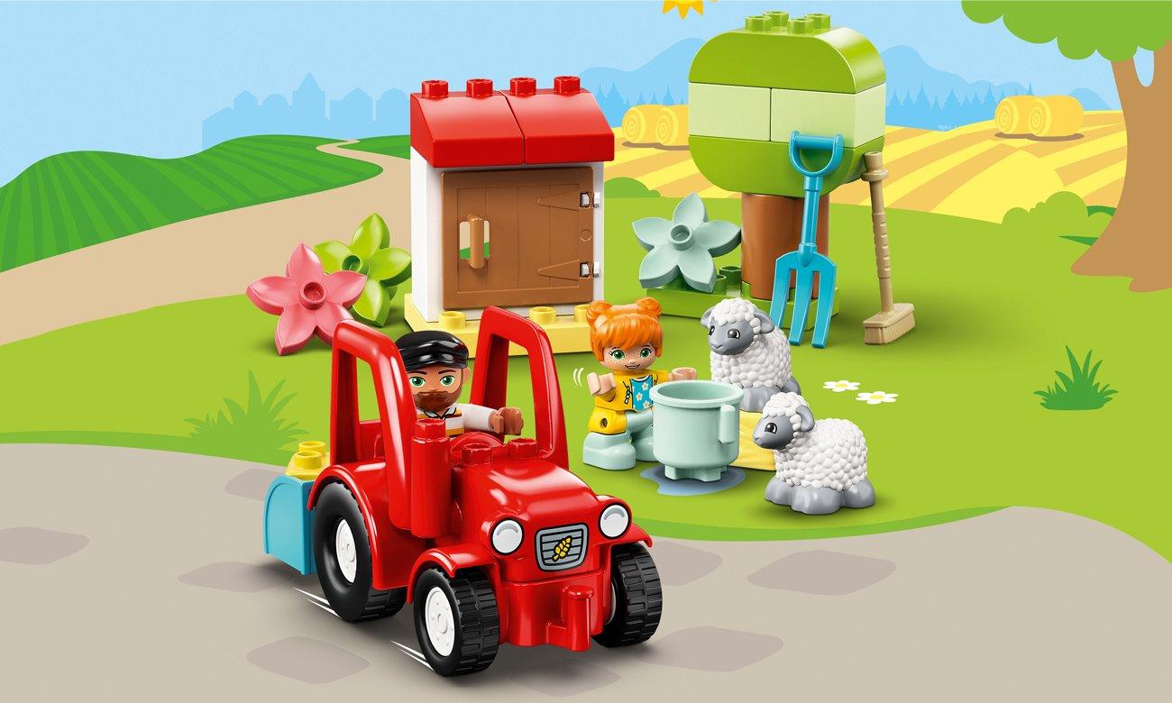 LEGO DUPLO Traktor i zwierzęta gospodarskie