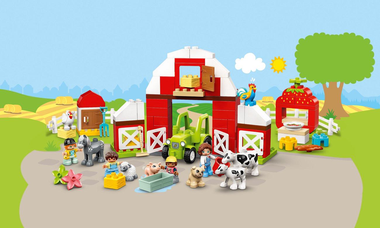 LEGO DUPLO Stodoła, traktor i zwierzęta