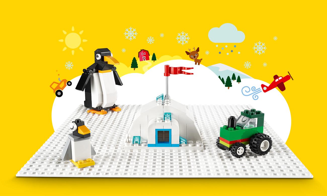 LEGO Classic Biała płytka konstrukcyjna