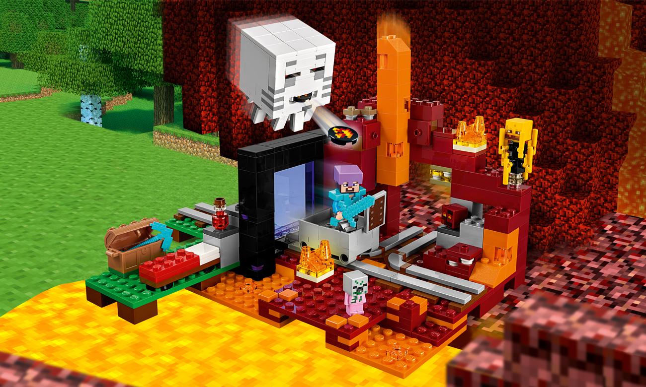 LEGO Minecraft Portal do Netheru