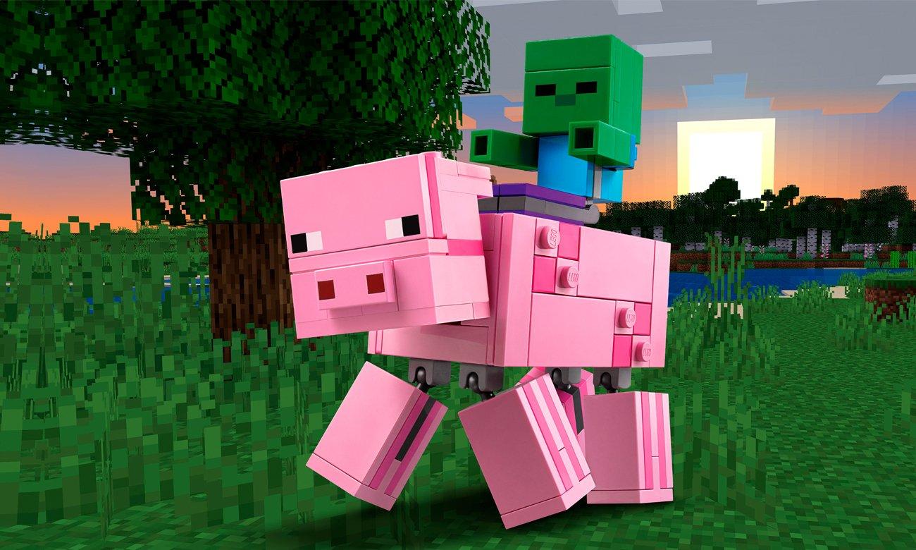 LEGO Minecraft BigFig - Świnka i mały zombie