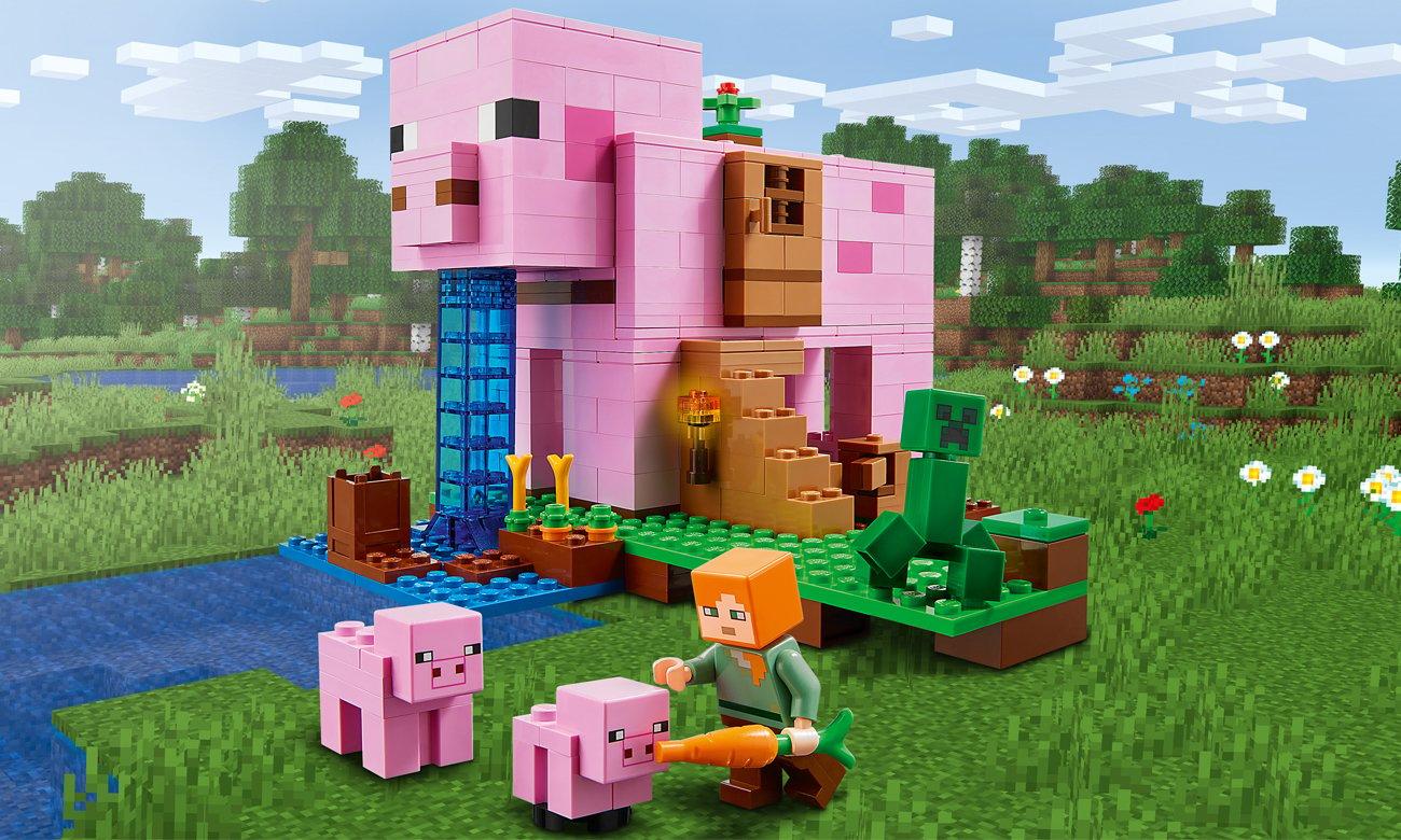 LEGO Minecraft Dom w kształcie świni