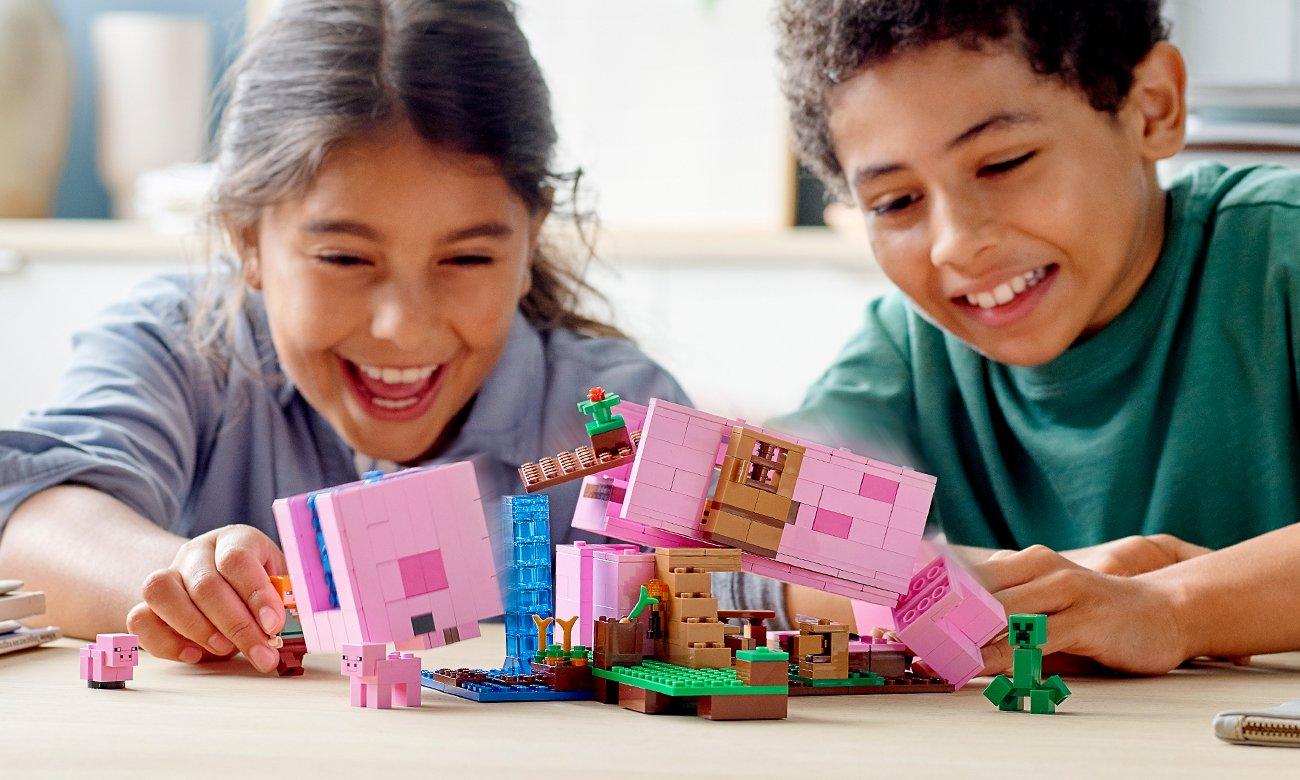 lego minecraft zestaw do przebudowy