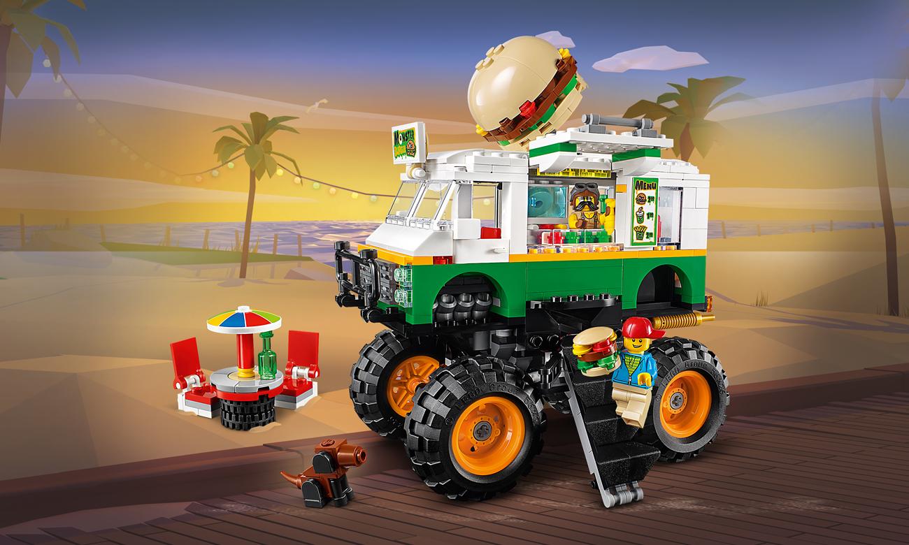 LEGO Creator Monster truck z burgerami
