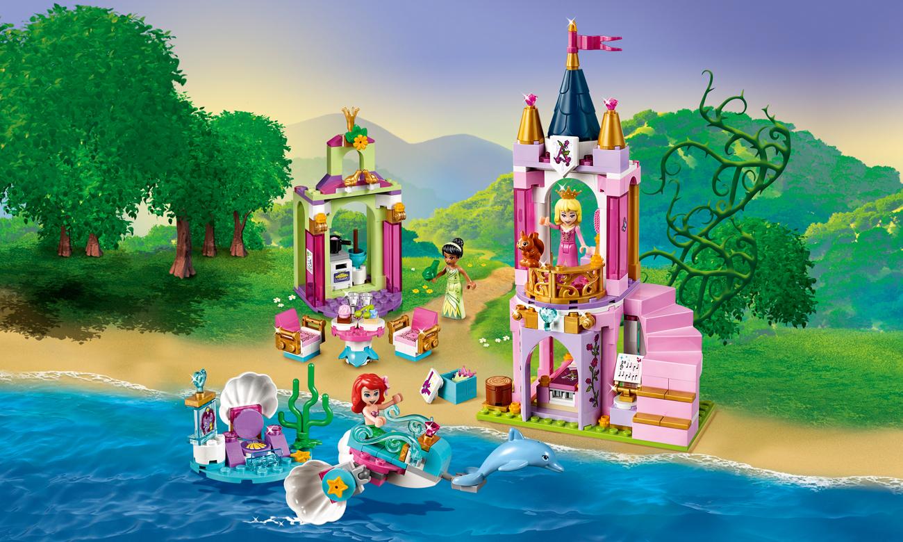 LEGO Disney Princess Królewskie przyjęcie Arielki, Aurory i Tiany