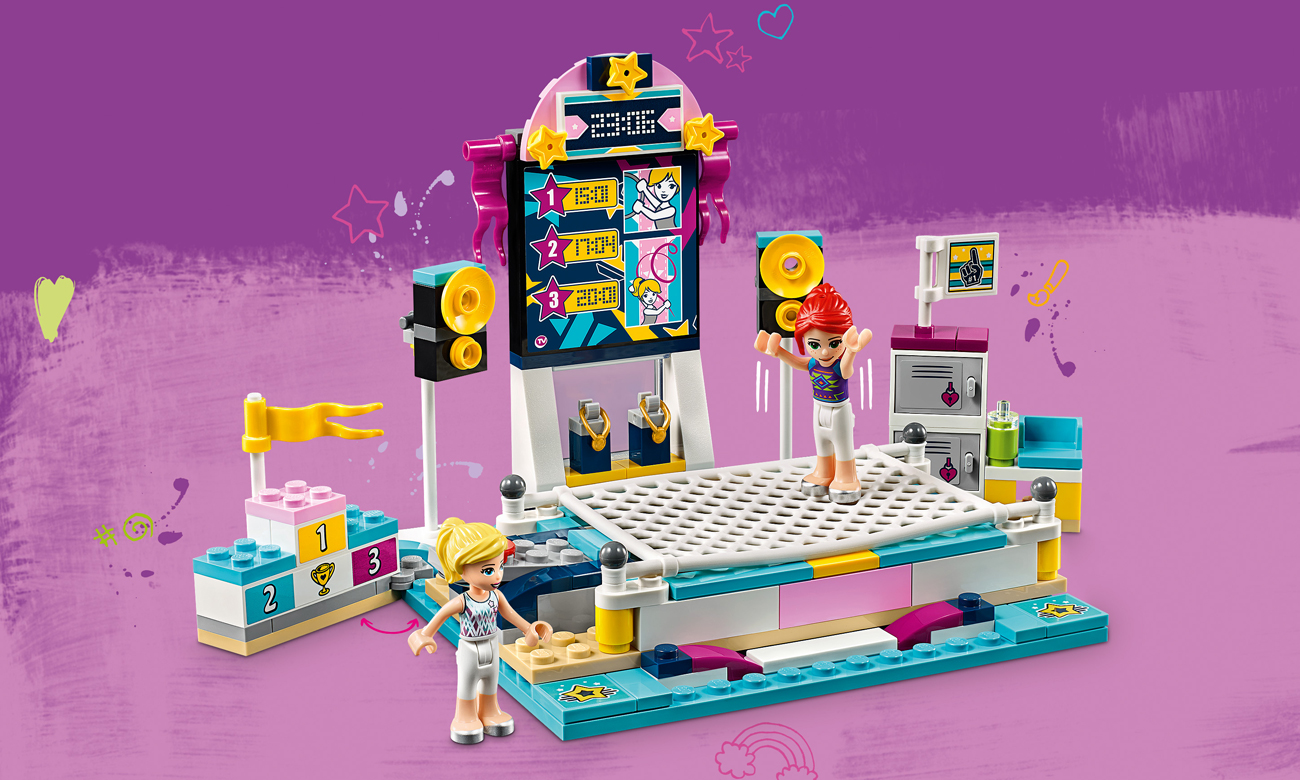 lego friends trampolina