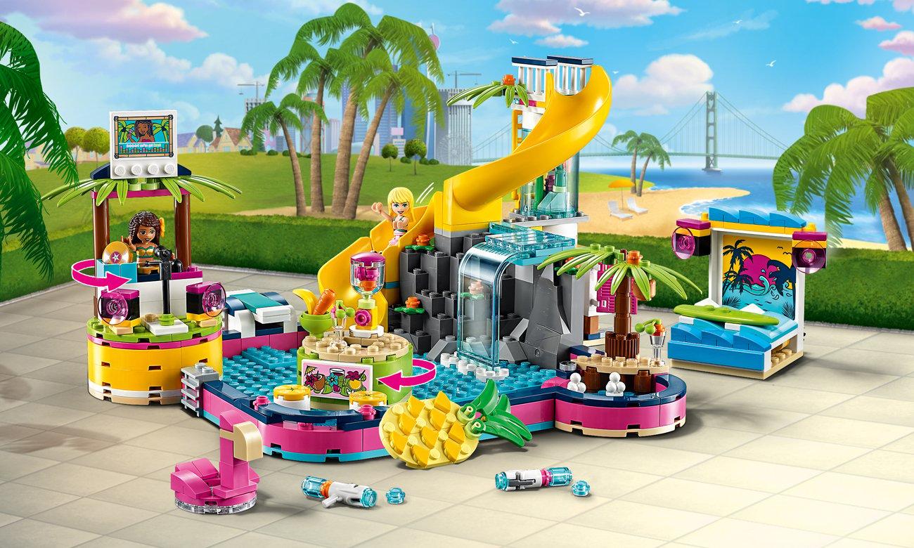 LEGO Friends Impreza Andrei na basenie