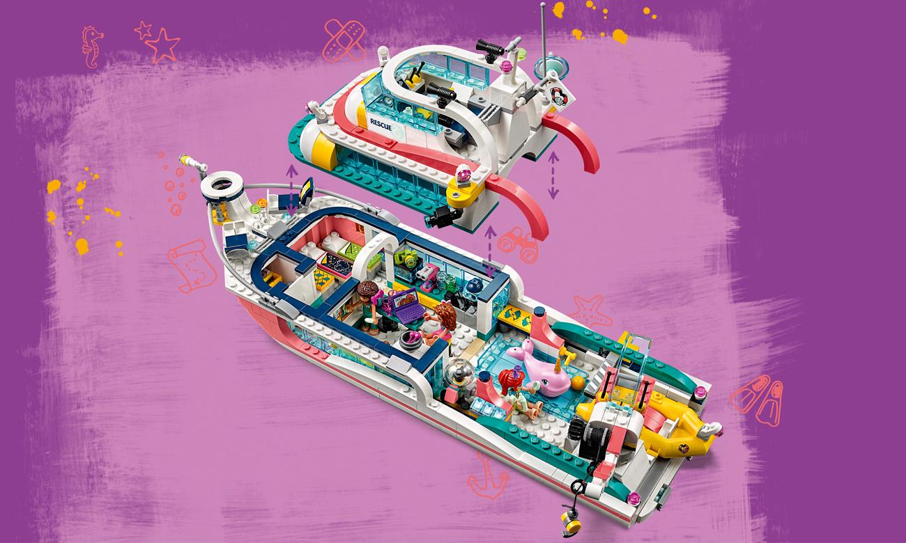 klocki lego friends statek