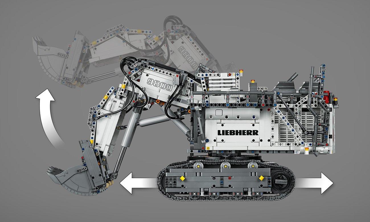 lego technic model koparki liebherr