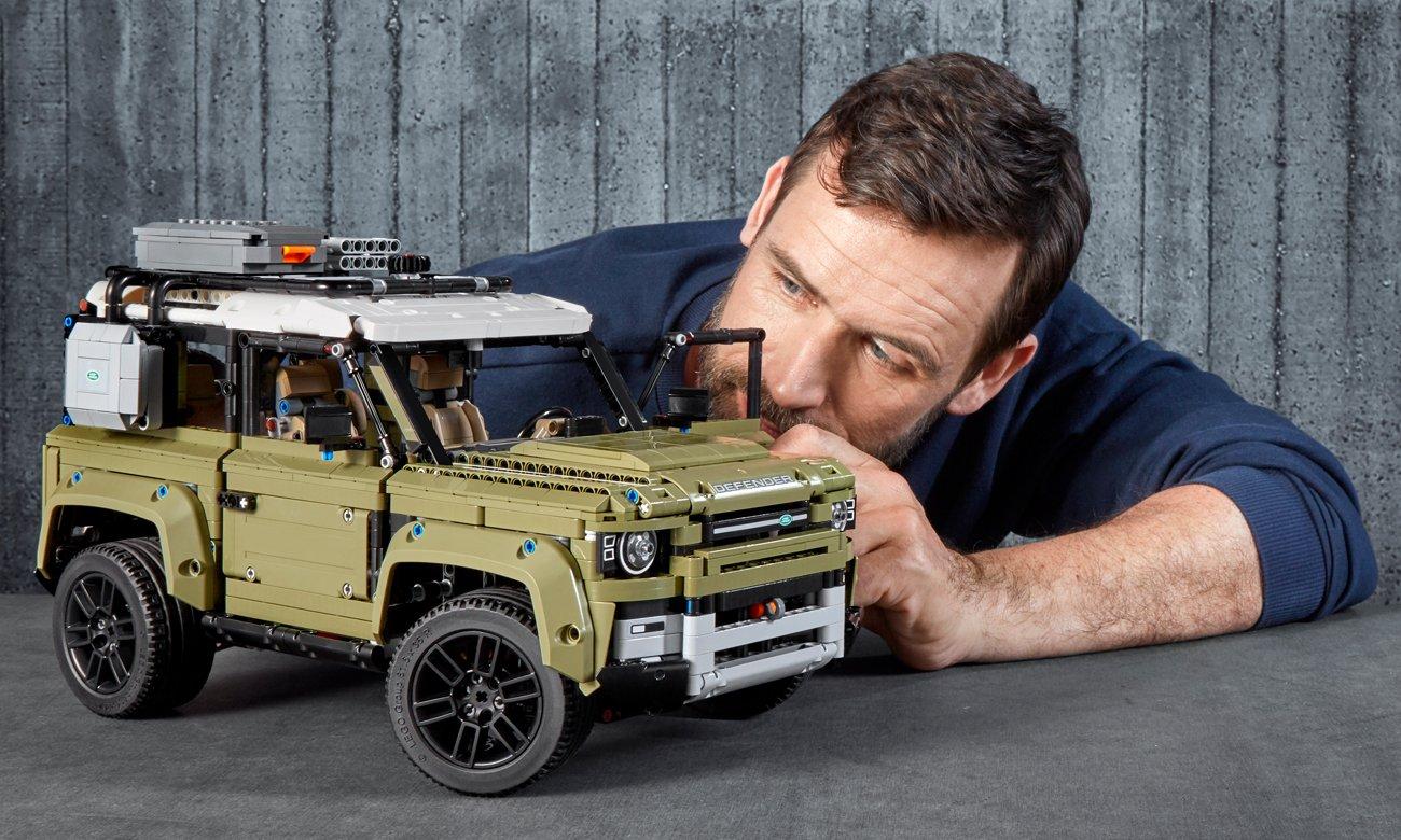 lad rover defender z klocków lego