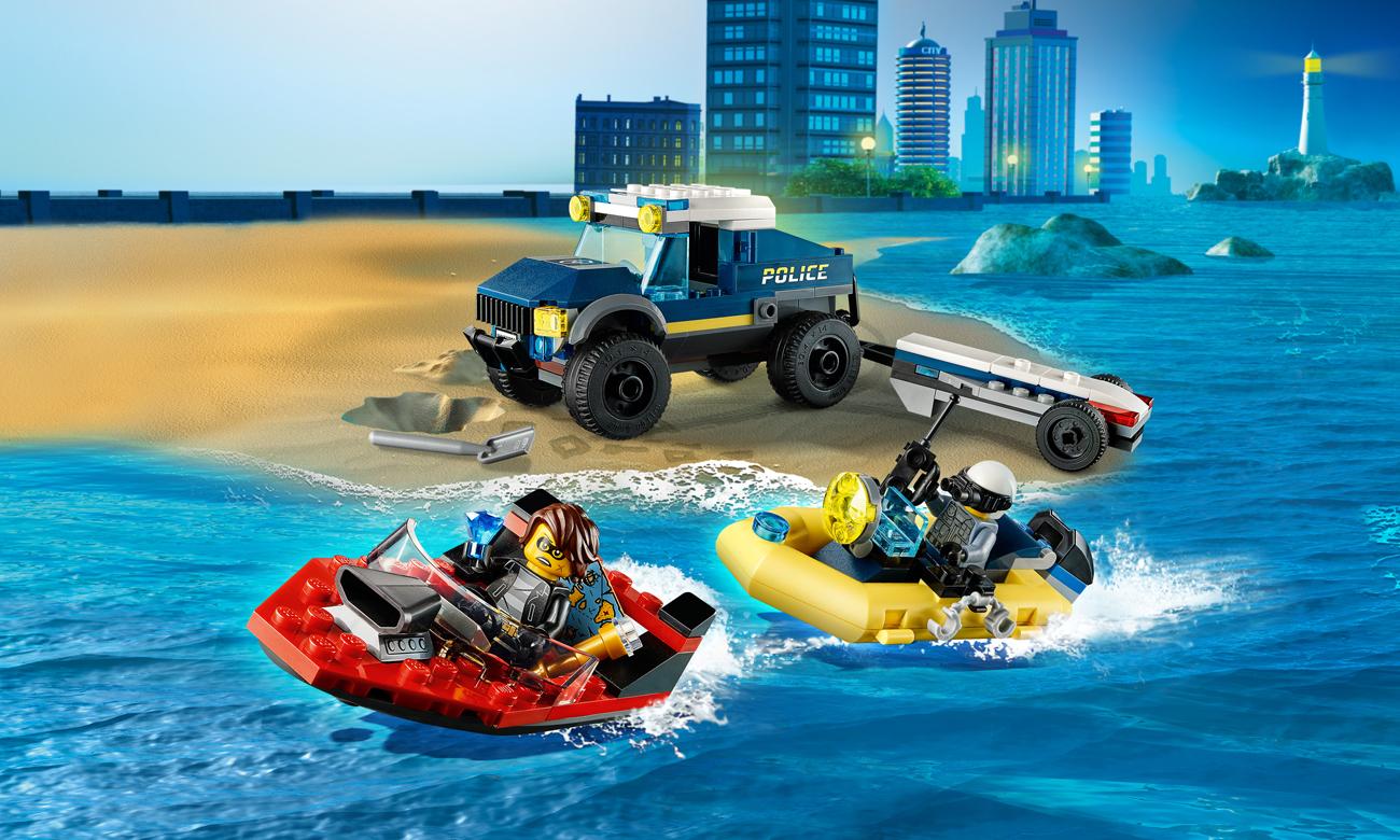 LEGO City Transport łodzi policji specjalnej
