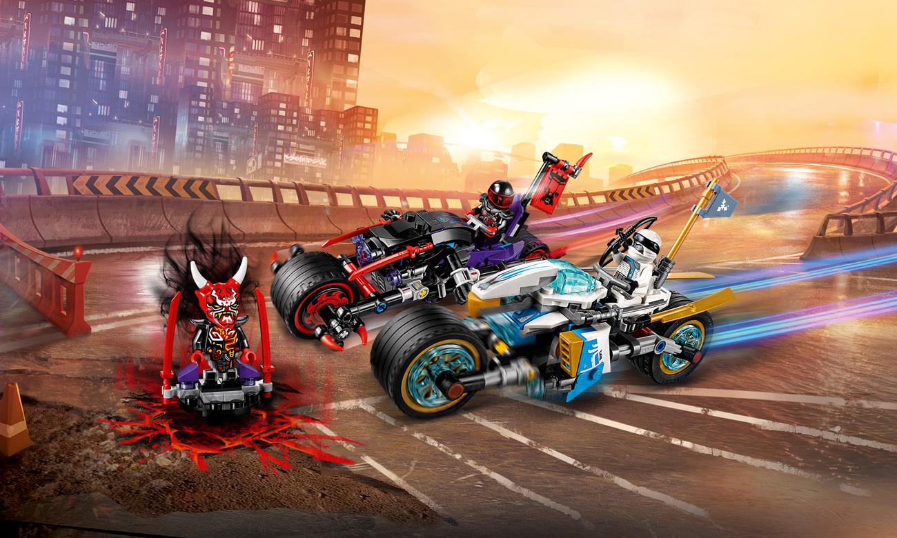 LEGO NINJAGO Wyścig uliczny Wężowego Jaguara