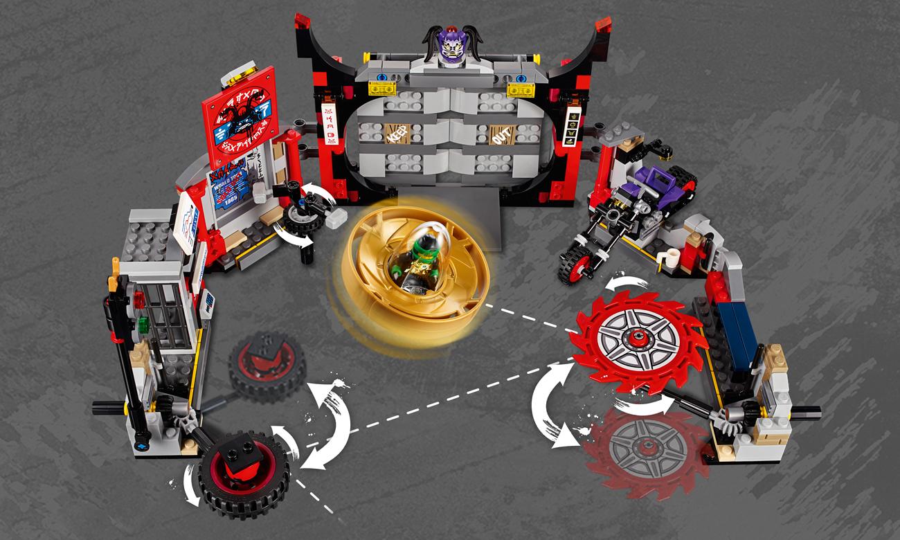 lego ninjago pojazd motocykl