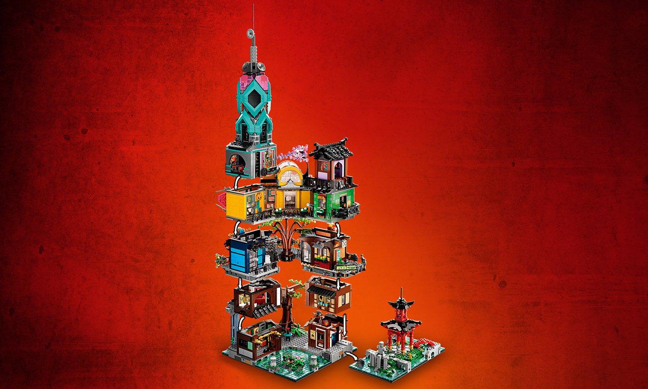 budynek lego ninjago duży zestaw