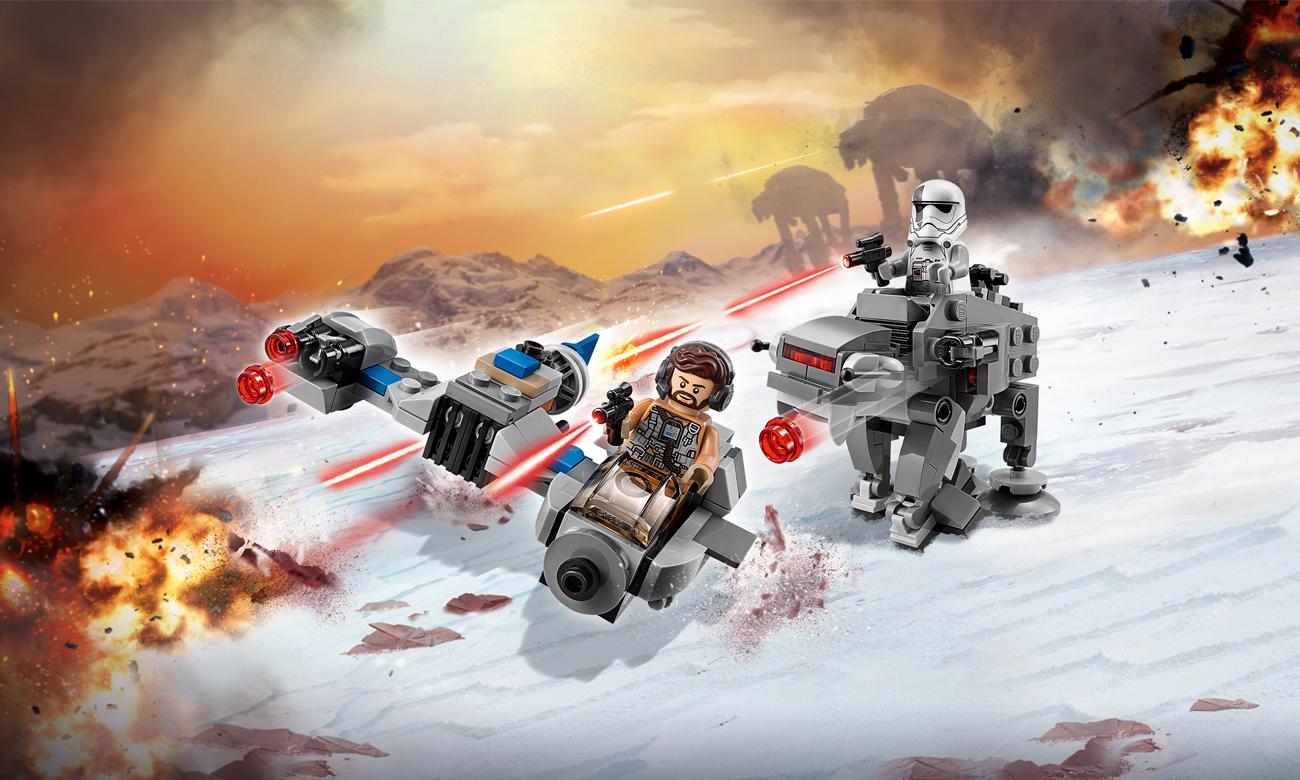 LEGO Star Wars Ski Speeder kontra Maszyna krocząca