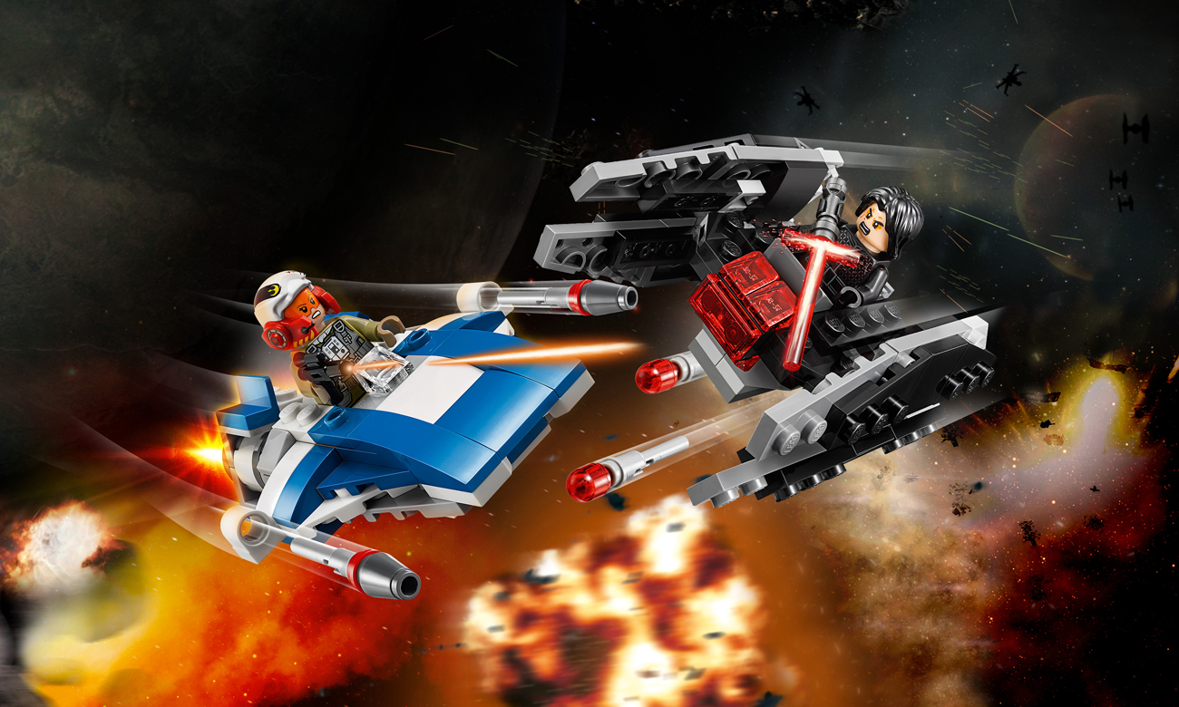 LEGO Star Wars A-Wing kontra TIE Silencer