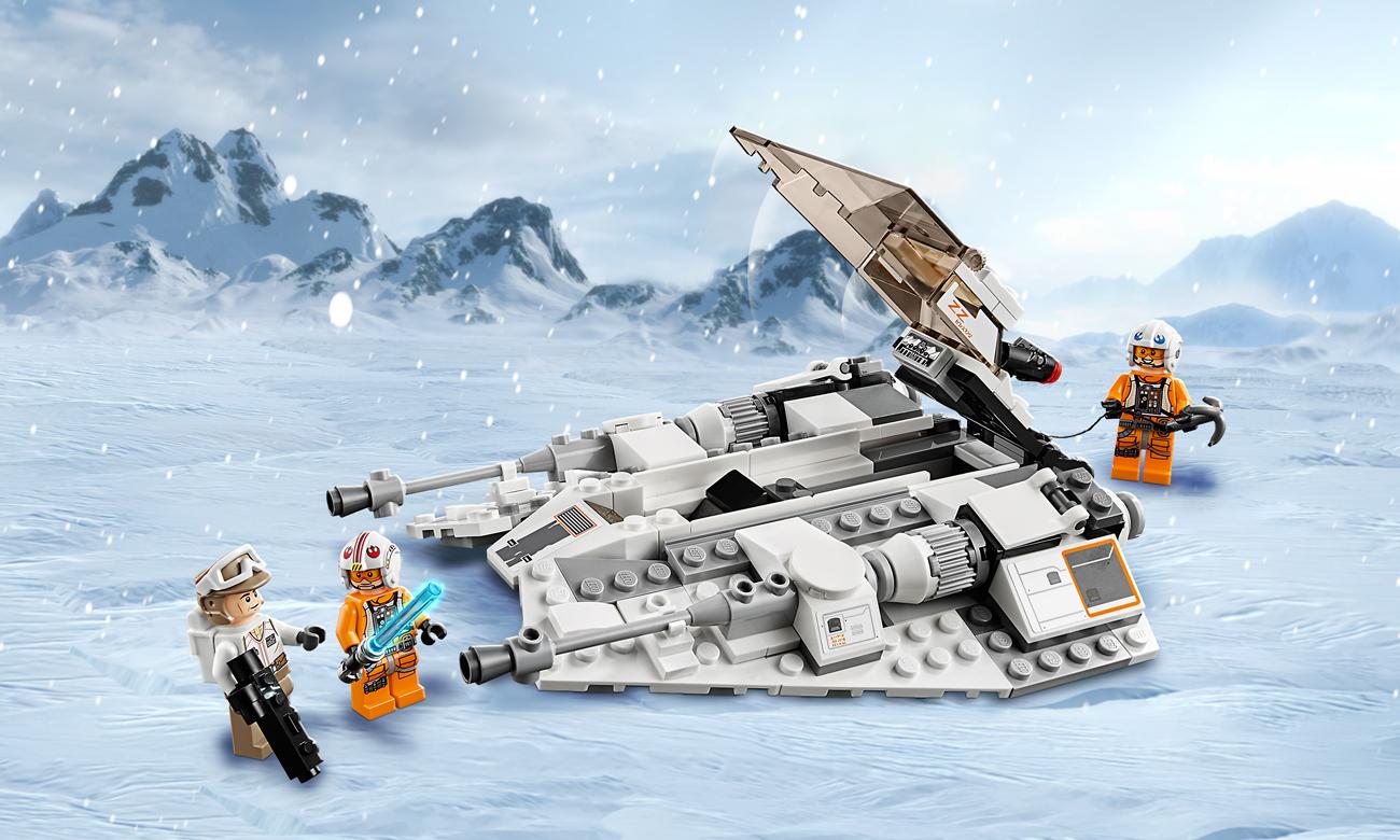 lego gwiezdne wojny śmigacz śnieżny
