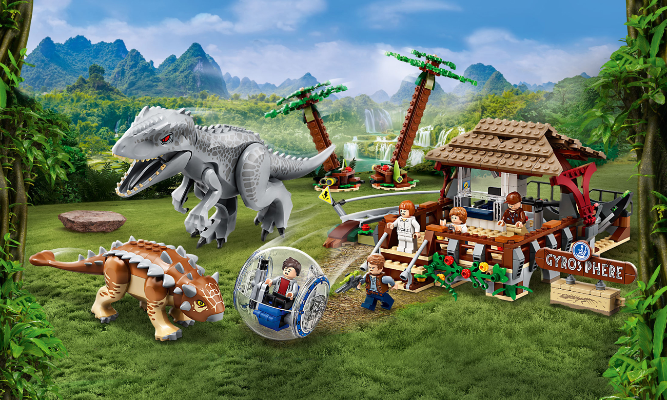 LEGO Jurassic World Indominus Rex kontra ankylozaur