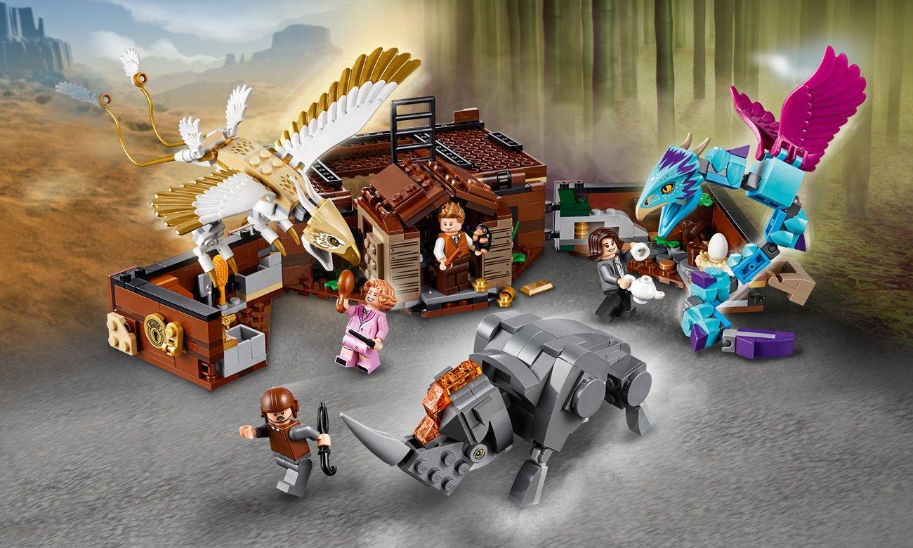 LEGO Harry Potter Walizka Newta z magicznymi stworzeniami