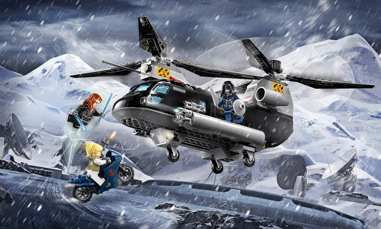 LEGO Marvel Super Heroes Czarna Wdowa i pościg helikopterem