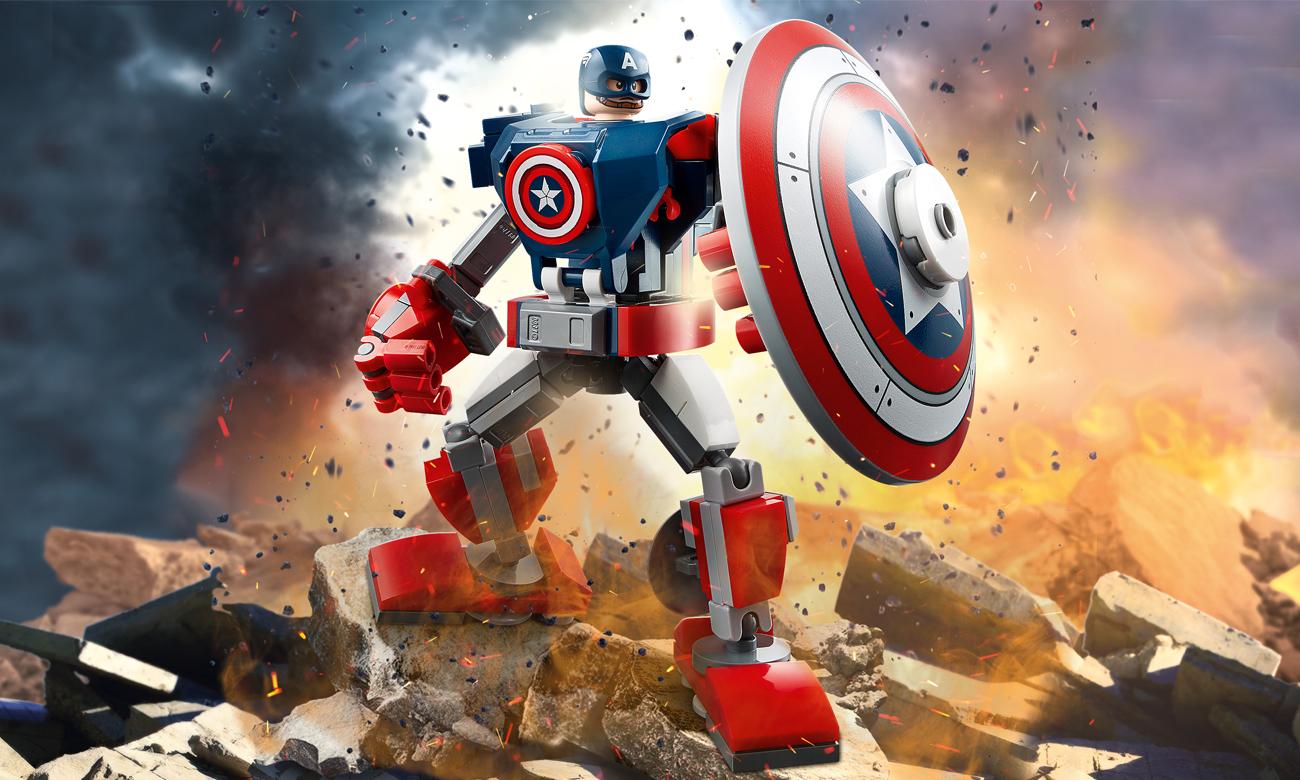 LEGO Marvel Avengers Opancerzony mech Kapitana Ameryki