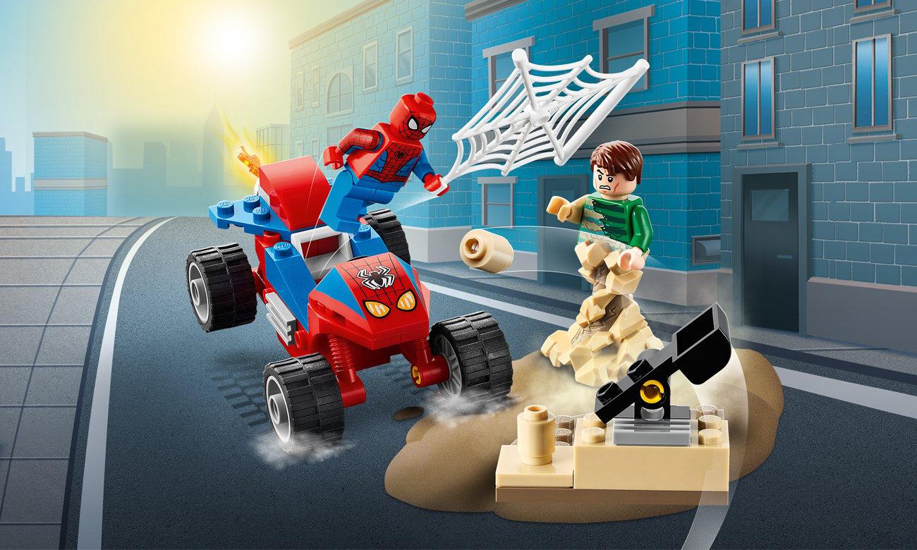 LEGO Marvel Spider-Man Pojedynek Spider-Mana z Sandmanem