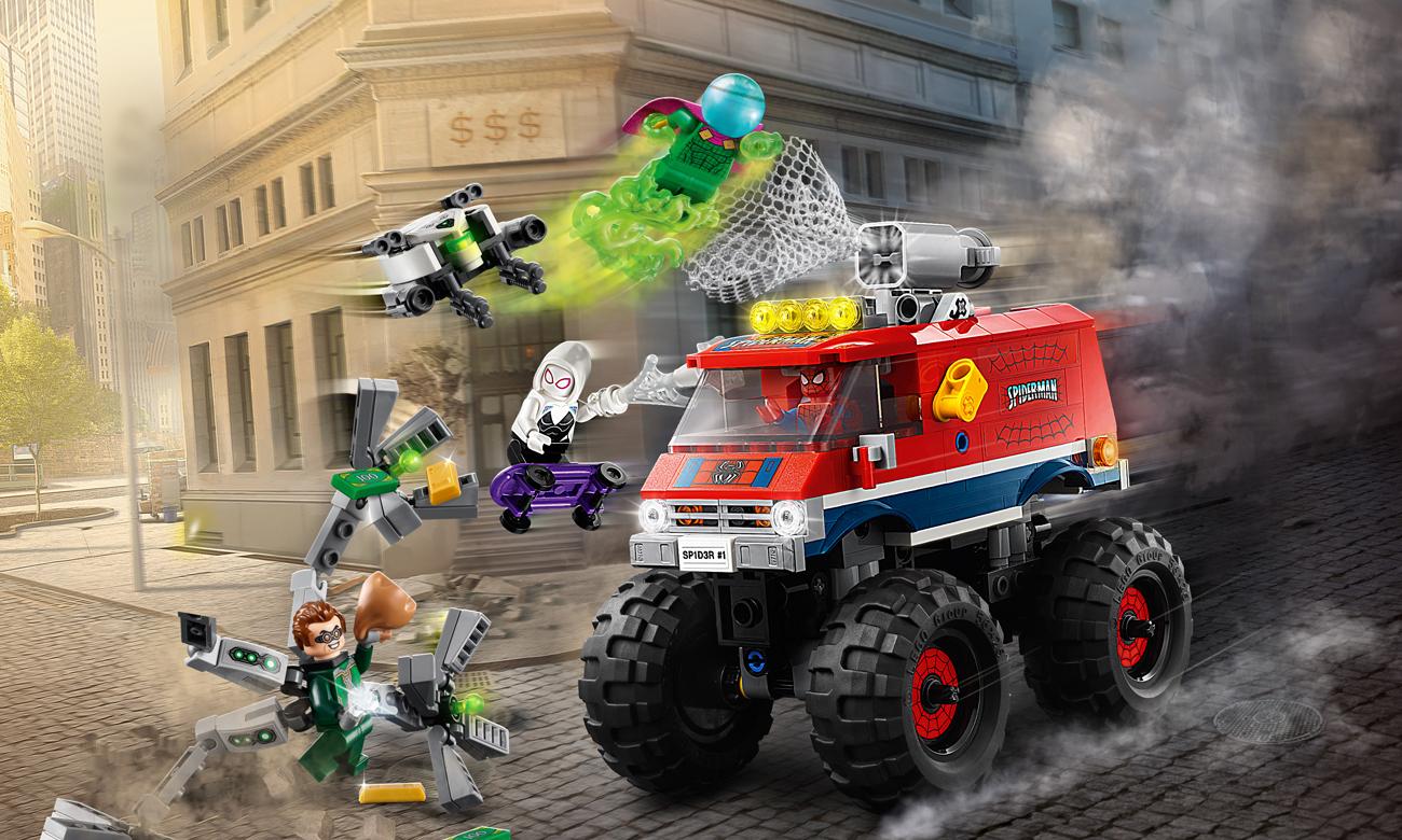 LEGO Marvel Spider-Man Monster truck Spider-Mana kontra Mysterio