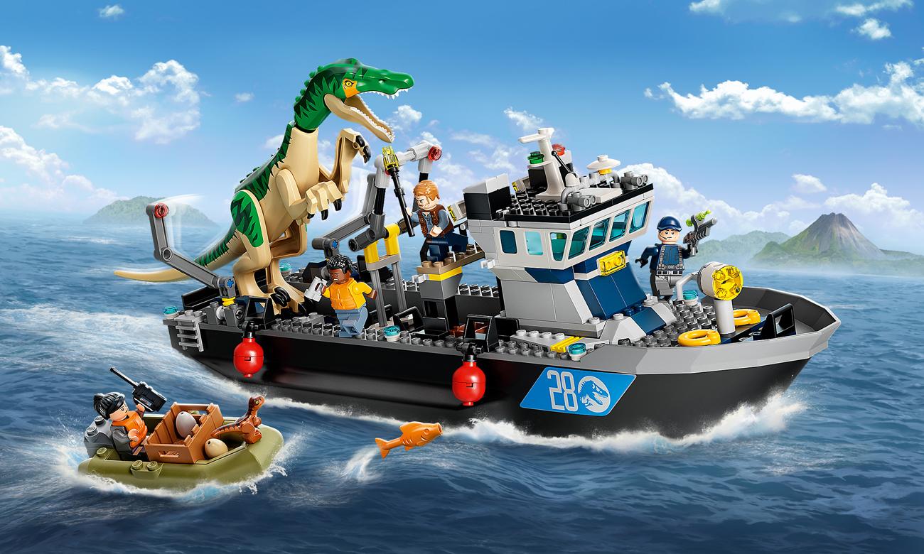 LEGO Jurassic World Barionyks i ucieczka łodzią