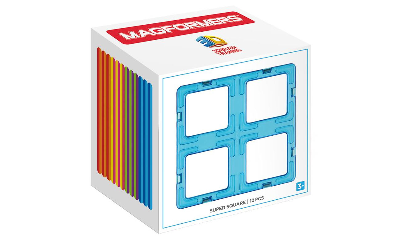 Klocki magnetyczne Magformers Super Kwadrat 713017
