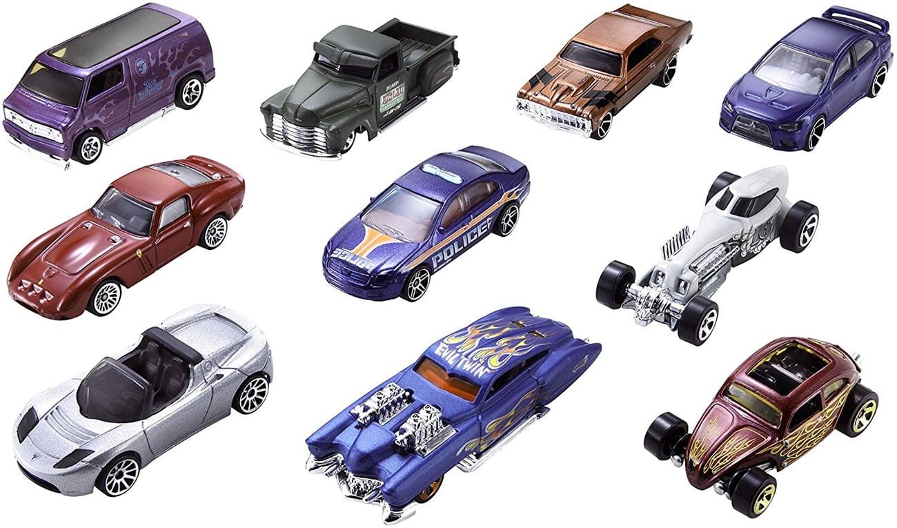 hot wheels zestaw 10 samochodzików
