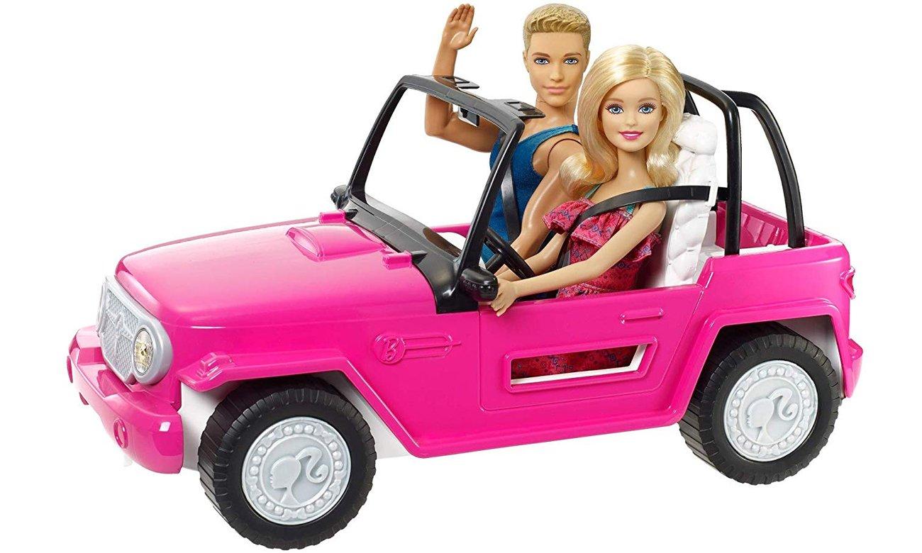 Mattel Barbie Plażowy samochód terenowy + Barbie i Ken