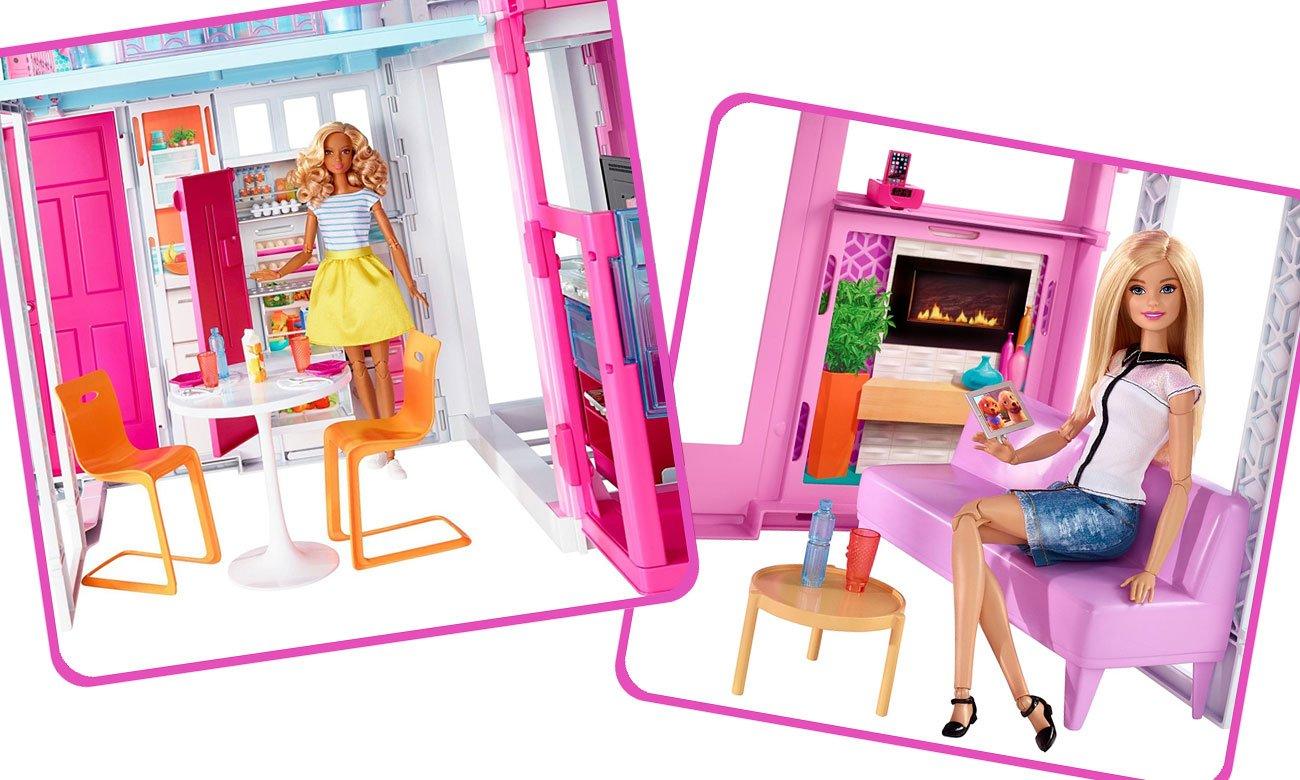 Domek z kuchnią i salonem dla barbie