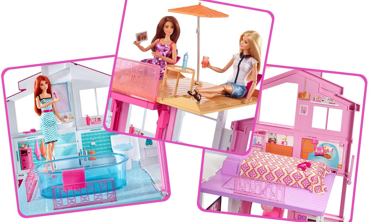 Barbie domek z tarasem Mattel DLY32