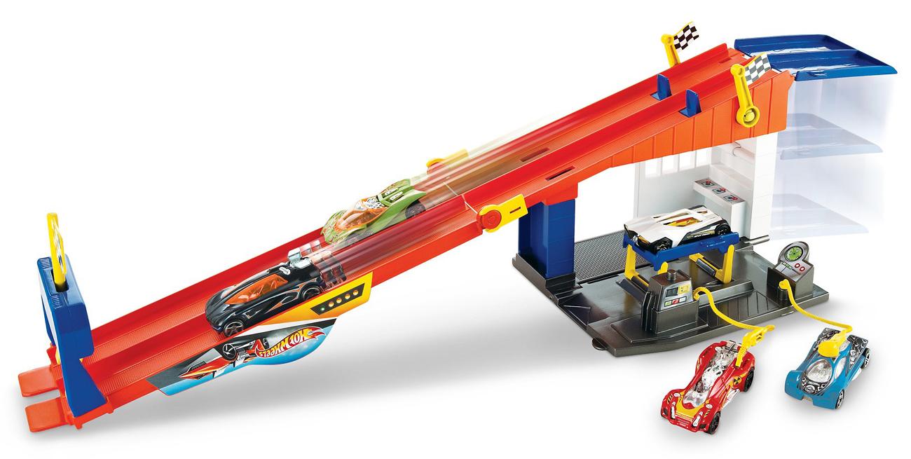Mattel Hot Wheels Wyścigowy warsztat z torem