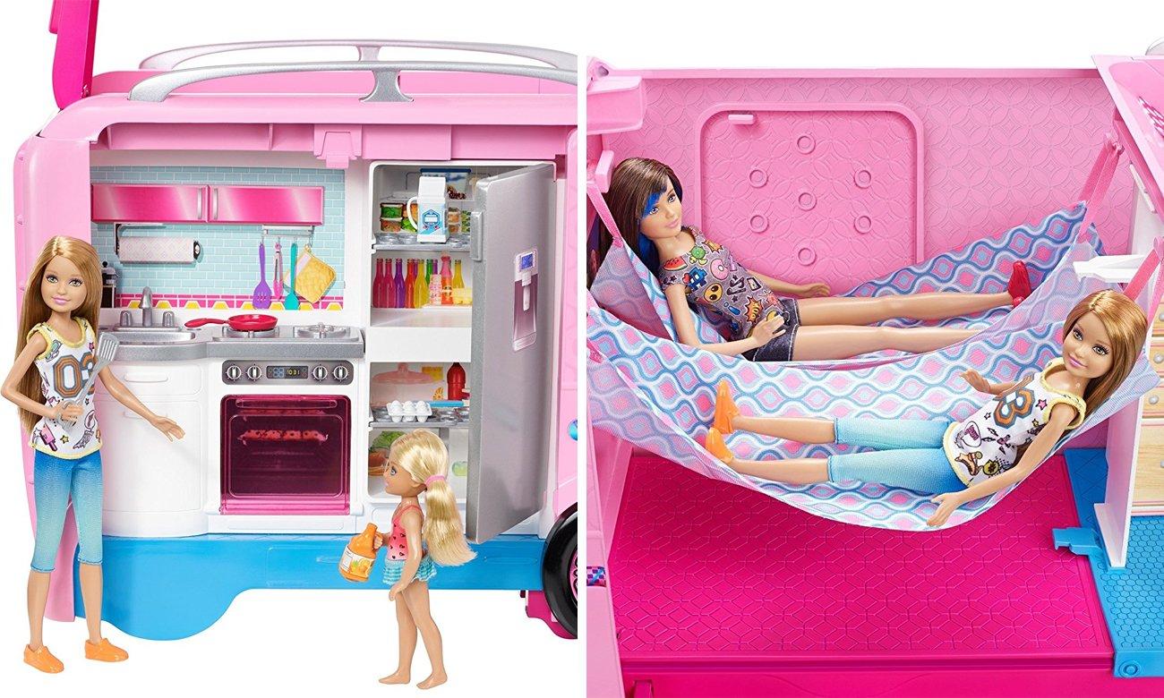 samochód dla lalki barbie z akcesoriami